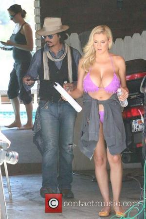 Jordan Carver and Johnny Depp