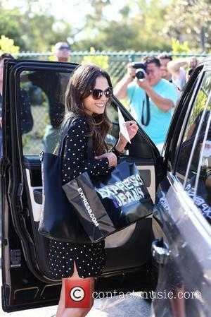 Jordana Brewster  exits Byron salon in Beverly Hills to discover that she received a parking ticket on her Range...