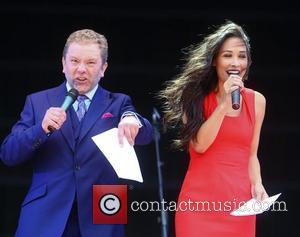 Jon Culshaw and Myleene Klass  at the Jubilee Family Festival at Hyde Park London, England - 02.06.12