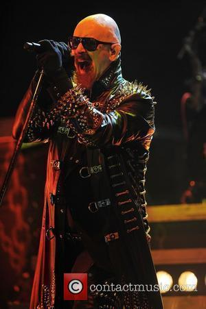 Rob Halford Judas Priest performs live at the Bayfront Amphitheater Miami Beach, Florida - 04.12.11