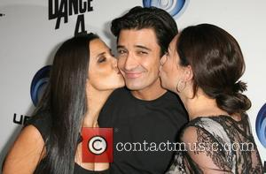 Gilles Marini with wife Carole and Jenny Leefer Ubisoft's Just Dance 4 Launch Party held at Lexington Social House Los...