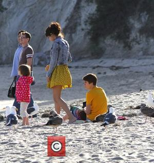 Justin Bieber, Selena Gomez and Malibu Beach