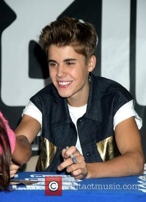 Justin Bieber at a cd signing for 'Believe' at JR Music World  New York, USA - 19.06.12