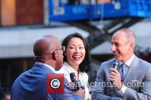Al Roker, Ann Curry and Matt Lauer Justin Bieber performs live at Rockefeller Center as part of the 'Today' show's...