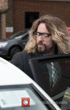 Justin Lee Collins leaving St Albans Magistrates Court where he is charged with harassing an ex-girlfriend St Albans, Hertfordshire -...
