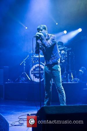 Ricky Wilson of the Kaiser Chiefs performing live at the HMV Apollo. London, England - 23.02.12