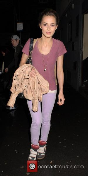 Kara Tointon  leaves the Harold Pinter theatre, having performed in a production of 'Absent Friends' London, England - 17.03.12