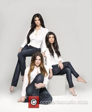 Kim Kardashian, Kourtney Kardashian and Khloe Kardashian Kardashian sisters Kourtney, Khloe, and Kim went topless to promote a new line...
