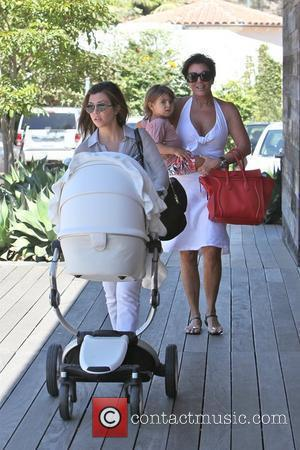Kourtney Kardashian, Mason Disick, Penelope Scotland Disick and Kris Jenner spend the day shopping in Malibu Los Angeles, California -...
