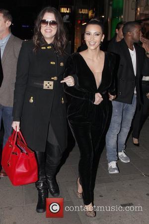 Kim Kardashian, Kanye West and Khloe Kardashian