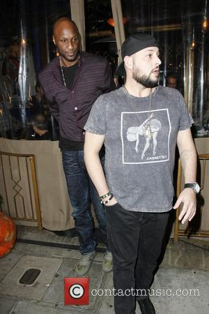 Lamar Odom leaving Little Next Door restaurant after filming for his reality show Los Angeles, California - 01.12.11