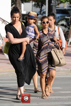 Kourtney Kardashian, Khloe Kardashian and Mason Disick