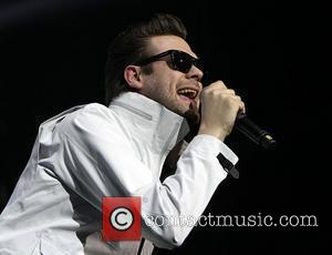 Tom Meighan of Kasabian performing onstage as part of their Velociraptor UK Tour at the O2 Arena. London, England -...