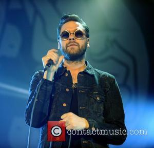 Tom Meighan of Kasabian performing at the Heinken Music Hall Amsterdam, Holland - 03.03.12