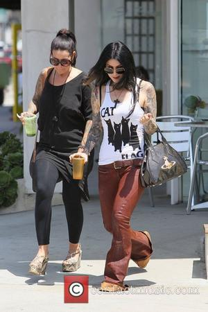 Kat von D leaving a juice bar in West Hollywood. Los Angeles, California - 10.05.12