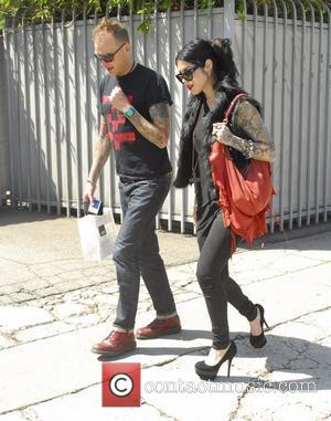Kat Von D and a friend leaving Joan's on Third in West Hollywood Los Angeles, California - 03.04.12