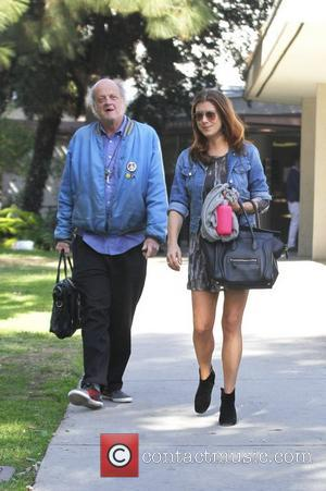 Kate Walsh seen walking with an elderly man in West Hollywood West Hollywood, California - 08.01.12