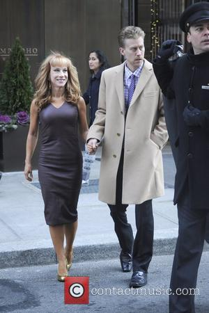 Kathy Griffin and boyfriend leaving thier hotel on the way to the Letterman Show in New York  New York...