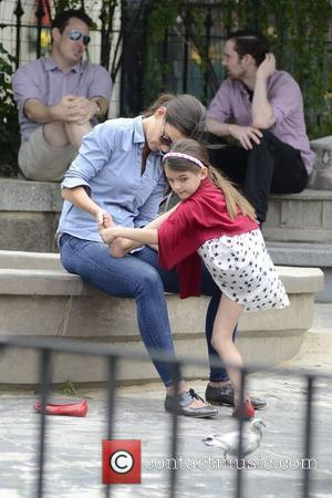Katie Holmes and daughter Suri Cruise enjoy a day at Brooklyn Bridge park New York City, USA - 03.09.12