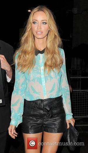 Lauren Pope leaving the launch party for website 'You Gossip', held at the Red Bar, Grosvenor House Hotel. London, England...