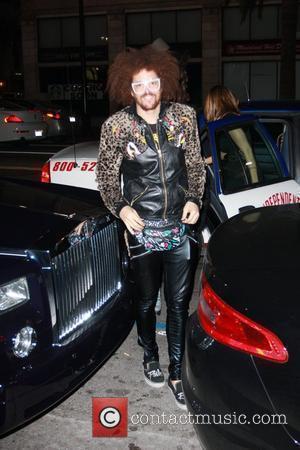 LMFAO frontman Redfoo aka Stefan Kendal Gordy outside Katsuya restaurant in Hollywood Los Angeles, California - 19.04.12
