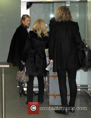 Kate Moss seen arriving at Kings Cross London, England - 21.11.12
