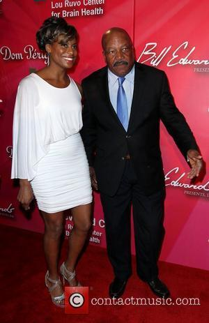 Jim Brown and guest 'Keep Memory Alive' Gala held at the MGM Grand Garden Arena - arrivals Las Vegas, Nevada...