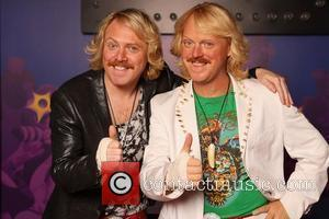 Leigh Francis aka Keith Lemon comes face to face with his wax figure Keith Lemon at Madame Tussauds in Blackpool...
