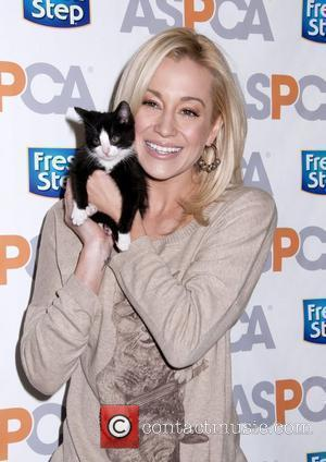 Kellie Pickler unveils the Fresh Step limited-edition cat sweater benefiting the ASPCA - held at the ASPCA Adoption Center New...