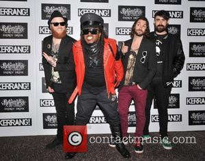 Michael Fry, Benji Webbe, Arya Goggin and Daniel Pugsley of Skindred Kerrang! Awards held at the Brewery - Arrivals. London,...