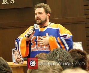 Kevin Smith  attends a book signing for 'Tough Sh*t: Life Advice from a Fat, Lazy Slob Who Did Good'...