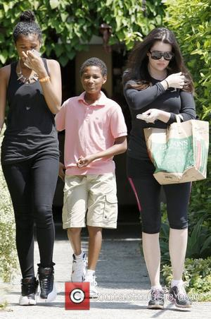 Khloe Kardashian and her step kids Destiny and Lamar Odom Jr. out and about on Bedford Drive Beverly Hills, California...