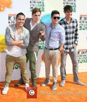 Carlos Pena, Kendall Schmidt, Logan Henderson and James Maslow of the boy band 'Big Time Rush' 2012 Kids Choice Awards...
