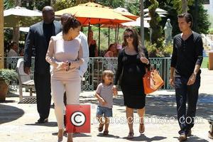 Kim Kardashian, Kanye West, Kourtney Kardashian, Mason and Scott Disick