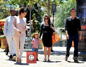 Kim Kardashian, Kanye West, Kourtney Kardashian, Mason and Scott Disick
