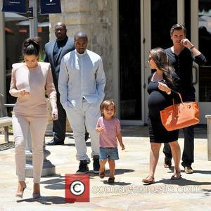 Mason, Kanye West, Kim Kardashian, Kourtney Kardashian and Scott Disick