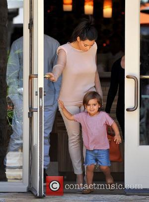 Mason and Kim Kardashian