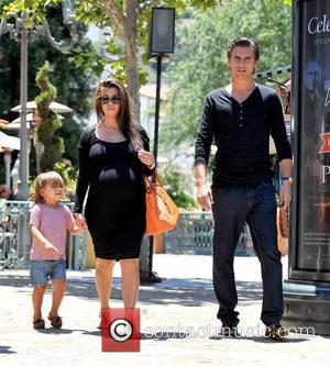 Mason, Kourtney Kardashian and Scott Disick