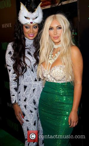 Kim Kardashian With La La Anthony, Halloween
