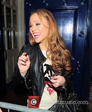 Girls Aloud member Kimberley Walsh leaving the Royal Drury Lane Theatre after a performance as Fiona in 'Shrek: The Musical'...