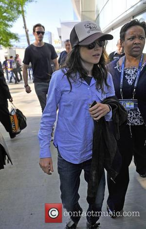 Alexander Skarsgard and Ellen Page,  arrive for Game Four of the 2012 Stanley Cup Final between the Los Angeles...