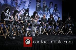 Gene Simmons, Nikki Sixx, Paul Stanley, Tommy Lee and Vince Neil