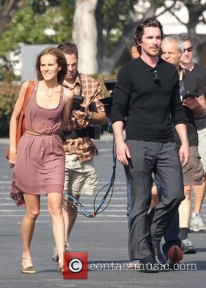 Isabel Lucas and Christian Bale  on the set of 'Knight Of Cups' Los Angeles California - 29.06.12