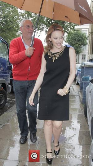 Kylie Minogue  arriving at a recording studio in Notting Hill London, England - 26.09.12