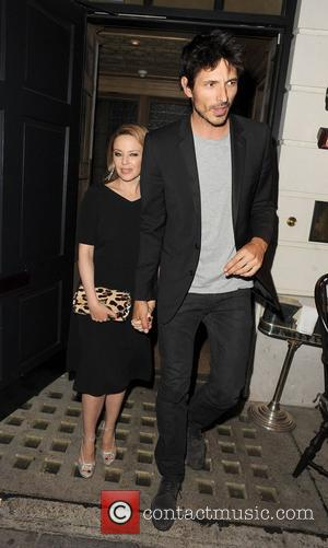 Kylie Minogue, Andres Velencoso, Little House Restaurant, Mayfair. Earlier, Holy Motors, Curzon Mayfair. London and England