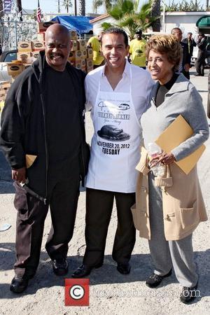 Jackson, Mayor Antonio Villaraigosa and Marla Gibbs