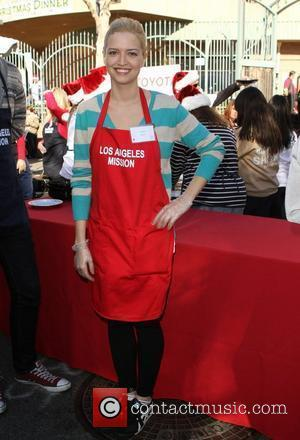 Lauren Storm 78th Los Angeles Mission Christmas Meal For The Homeless Held At LA Mission Los Angeles California 23/12/11