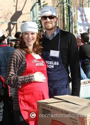 Sarah Drew and husband Peter Lanfer 78th Los Angeles Mission Christmas Meal For The Homeless Held At LA Mission Los...