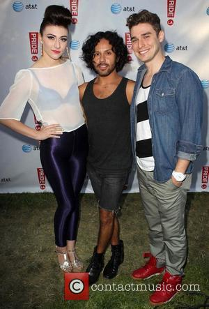 Karmin, Dan Holguin 2012 LA Gay Pride_VIP Area West Hollywood California 10/6/12