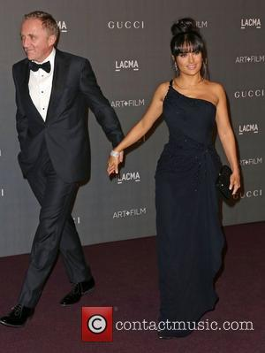 Salma Hayek And Francois-Henri Pinault At LACMA